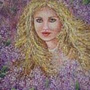 Natalie In Lilacs Art Print