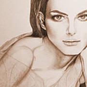 Natalie Portman Art Print by Kim Lagerhem