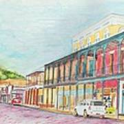 Natchitoches Front Street Art Print by Ellen Howell