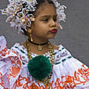 National Costume Of Panama Art Print