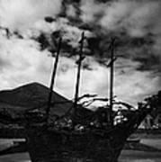 National Famine Memorial The Skeleton Ship By John Behan Art Print