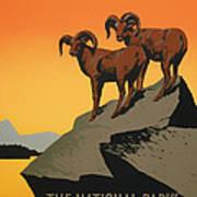 National Parks Preserve Wildlife Vintage Poster 1938 Art Print