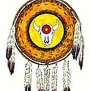 Native American Ceremonial Shield Number 2 Art Print