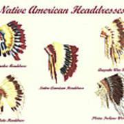 Native American Headdresses Number 4 Art Print