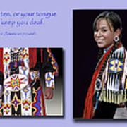 Native American Proverb Art Print