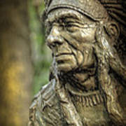 Native American Statue At Niagara Falls State Park Art Print