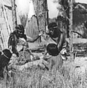 Native American Story Telling Art Print