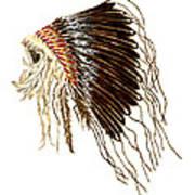 Native American War Bonnet - Plains Indians Art Print