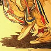 Native Dancer's Feet 1 Art Print