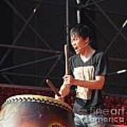 Native Drummer Performs In Taiwan Art Print