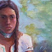 Native Maiden Art Print by Gwen Carroll