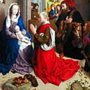 Nativity And Adoration Of The Magi Art Print