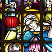 Nativity Window Art Print