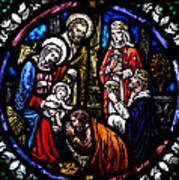 Nativity With Kings Art Print
