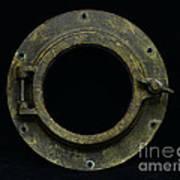 Natuical - Brass Porthole Art Print