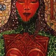 Natural Warrior Goddess Art Print by Cynthia Hagenhoff