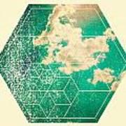 Nature And Geometry - The Sky Art Print