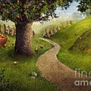 Nature Design - Apple Orchard Art Print by Mythja  Photography