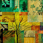 Nature Patchwork Art Print by Ann Powell