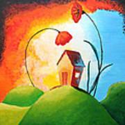 Nature Spills Colour On My House Art Print
