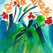 Natures Bouquet Abstract Art Print