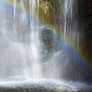 Natures Rainbow Falls Art Print