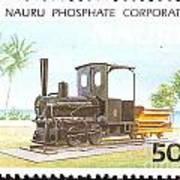 Nauru Island Stamp Art Print
