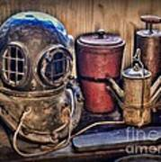 Nautical - Antique Dive Helmet Art Print