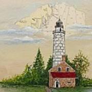 Nautical Chart Cana Island Lighthouse Art Print