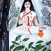 Nava Durga Brahmacharini Art Print by Pratyasha Nithin