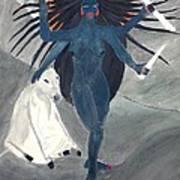 Nava Durga Kaalraatri Art Print