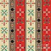 Navajo Style Pattern Art Print