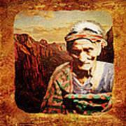 Navajo Triptych  Art Print