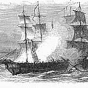 Naval Battle, 1779 Art Print