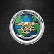 Naval Special Warfare Group Three - Nswg-3 - On Black Art Print
