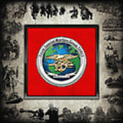 Naval Special Warfare Group Three - N S W G-3 - Over Navy S E A Ls Collage Art Print