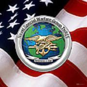 Naval Special Warfare Group Three - N S W G-3 - Over U. S. Flag Art Print