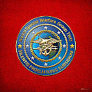 Naval Special Warfare Group Two - N S W G-2 - On Red Art Print