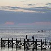 Navarre Beach Sunset Pier 11 Art Print