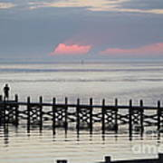 Navarre Beach Sunset Pier 17 Art Print