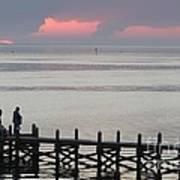 Navarre Beach Sunset Pier 20 Art Print
