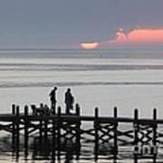 Navarre Beach Sunset Pier 27 Art Print