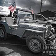 Navy Jeep Art Print
