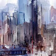 Navy Pier Blues Chicago Art Print