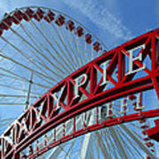 Navy Pier Ferris Wheel Art Print by James Hammen