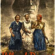 Nazi War Propaganda Poster Art Print