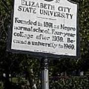 Nc-a37 Elizabeth City State University Art Print