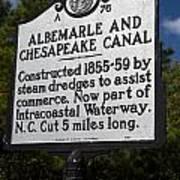 Nc-a76 Albemarle And Chesapeake Canal Art Print