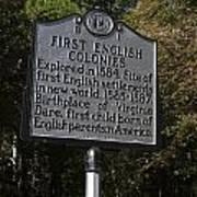 Nc-b1 First English Colonies Art Print