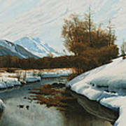 Near La Punt St Morritz In The Engadine Valley Art Print